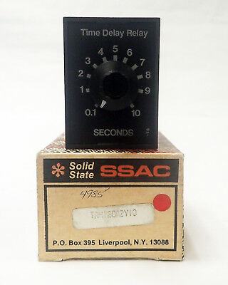 Ssac Solid State Trm120A2Y10 120Vac, Timing Relay 0.1 - 10 Sec