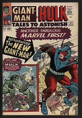 Tales To Astonish #65 - Lovely Vf+ 8.5 Glossy Cents New Giant Man's New Powers