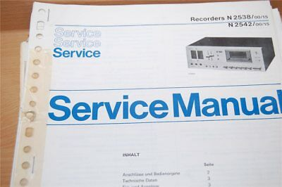 Service Manual Philips  Recorders N2538 / N2542
