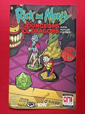 Rick & Morty vs Dungeons & Dragons #1 Sneak Peak Exclusive Variant • NM • Oni