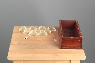 Vtg. Lot of 9 Antique or Vtg Microscope Prisms in Box #802 Science Lab Tool