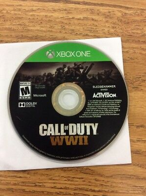 Call Of Duty WWII Xbox One Disc Only -- S2G --