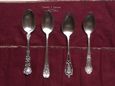 Antique Sterling Silver Teaspoons, Lot of 4,  81 Grams - PRICE REDUCED