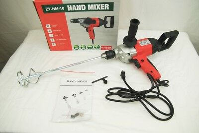 110V 1050 Watt Portable Electric Hand Mixer Drill ZY-HM-10 for Paint and Fluids