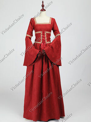 Medieval Queen Guinevere Game of Thrones Dress Priestess Theater Costume N R401