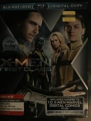 X-Men First Class w/ Slipcover Target Exclusive (Blu-ray/DVD, 2011)
