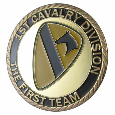 """1st Cavalry Division :The First Team """" Challenge Coin"""