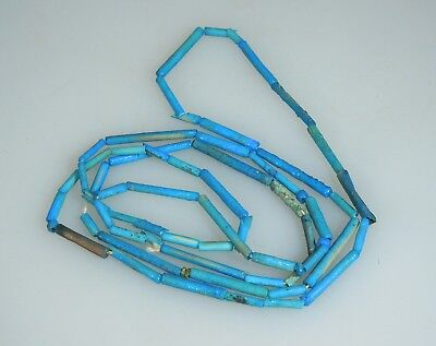 Ancient Egyptian Turquoise Faience Bead Necklace       52921