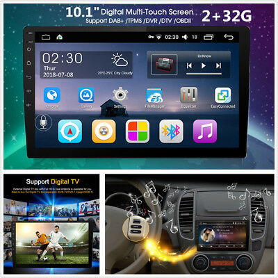"""10.1""""HD Android 6.0 Double 2Din Quad-Core 2+32G WiFi Car GPS Stereo Radio Player"""