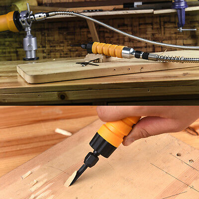 Versatility Electric Woodworking Woodcut Set Tool Hand Carving Chisel + Shaft