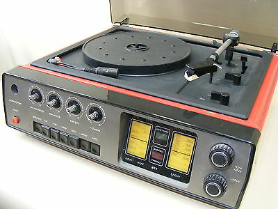 Old DDR Record Player Set 4001 Robotron Radio Amplifier Tuner Turntable