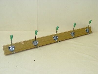 Antique Hook Strip Wood Cult Retro 50er Wardrobe Wooden Trim Hook