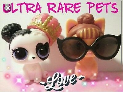 New Lol surprise dolls pets series 3 wave 2 it kitty and heart barker ultra rare