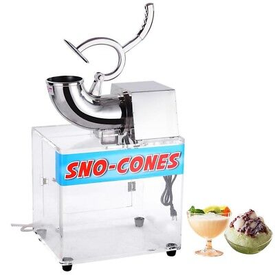 250w 110v Stainless Steel Electric Ice Crusher Snow Cone Maker Shaver 440lbs/hr