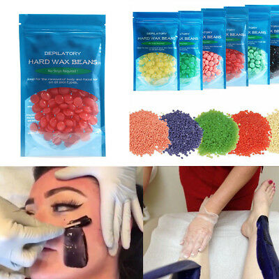 50g Hard Wax Beads No Strip Film Waxing Hair Removal Face Body Safety Depilatory