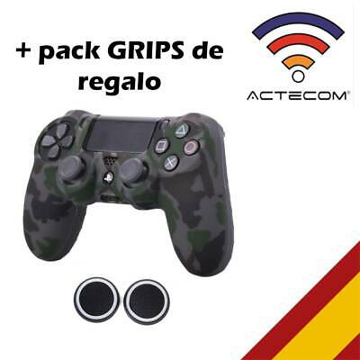 Actecom® Funda + Grip Silicona Camuflaje Oscuro Mando Sony Ps4 Playstation 4