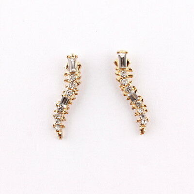2019 Fashion Gold Silver Pave Crystal Ear Climbers Earrings For Women Jewelry