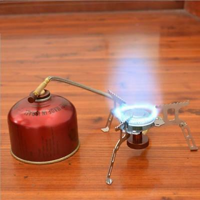 3500W Portable Outdoor Picnic Gas Burner Foldable Camping Mini Steel Stove+Case