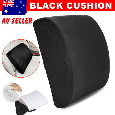 Memory Foam Back Support Lumbar Pillow Office Chair Cushion Car Seat Pain Relief