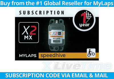 MyLaps X2 Subscription 1-year Renewal Card for MX Rechargeable Transponder