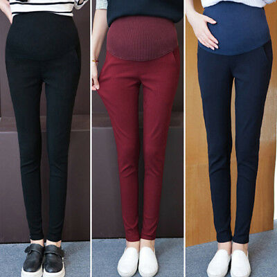 Fashion Casual Belly Denim Maternity Jeans Pencil Trousers For Pregnant Women