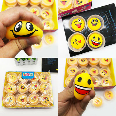 Cute Emoji Expression Smile Face Ball Stress Reliever Squeeze Relief DIY Kid Toy