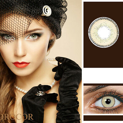 1 Pair Unisex Colored Contact Lenses Big Eye Makeup Charming Cosmetic Tool Mode