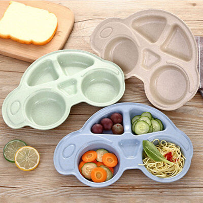 Baby BPA-Free Plastic Placemat Suction Plates One-Piece Feeding Dishes Bowl US