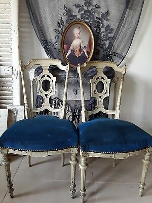 2 Antike Stühle  Frankreich Belle Brocante  Antique French Chairs Louis Xvi