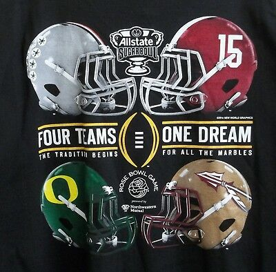 2015 College Football Playoff T-Shirt XX-Large Ohio State Bama Oregon FL State