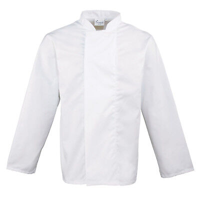 Premier Mens Womens White Coolmax Chef's Jacket Xs-Xxl Pr659