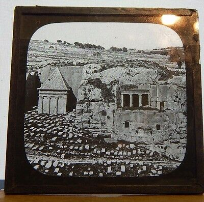 Antique Glass Slide Ancient Graves In The Holy Land  Magic Lantern