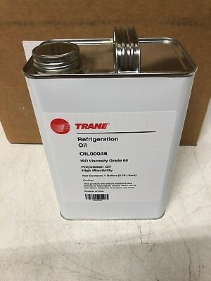 (One Gallon) Trane Refrigerant Oil00048 Lubricant Iso Viscosity 68 Polyol Ester