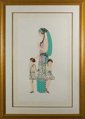 Erté - Motherhood, Hand-signed Serigraph, Framed