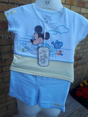 micky mouse baby boys outfit 0-3 months