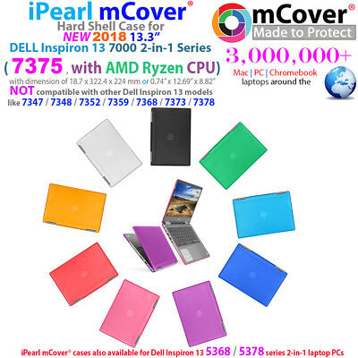 "NEW iPearl mCover Hard Case for  2018 13.3"" Dell Inspiron 13 7375 2-in-1 laptop"