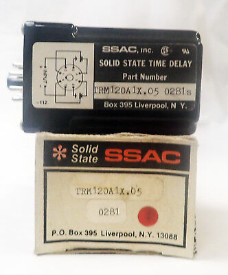 Ssac Solid State Trm120A1X.05 10 120Vac, Fixed Timing Relay .05 Sec