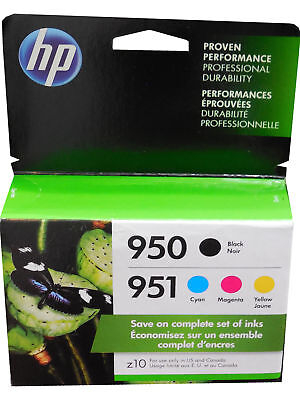 4-PACK HP GENUINE 950 Black & 951 Color Ink 2019 - 2020 (RETAIL BOX)