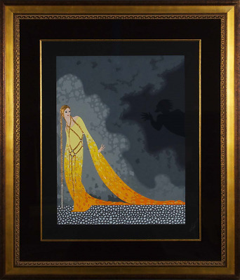 Erté - Melisande and Golaud, Hand-signed Serigraph, Framed