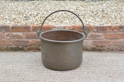 old antique brass cooking pot metal cauldron pot- FREE POSTAGE
