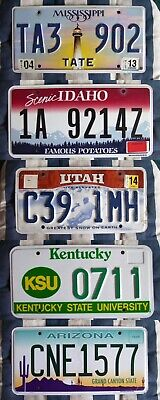 SET OF 3 nice condition AMERICAN LICENSE LICENCE NUMBER PLATES california #3nice