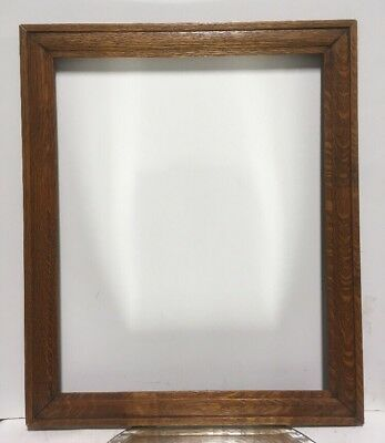 "Antique Arts and Crafts Mission OAK Picture Frame Fits 16 1/2"" x 20 1/2"""