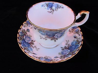 Royal Albert MOONLIGHT ROSE 2pc DuoTea Cup & Saucer  Eng 1st c1987