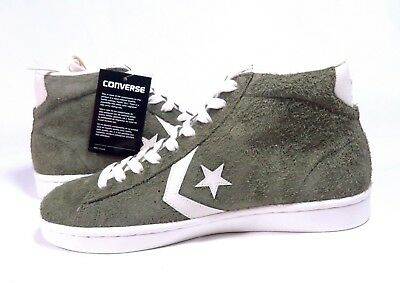 1820b2b24f49 Converse Pro Leather Mid Medium Olive Egret Sz Mens Multi Size 157690C