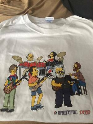 Grateful Dead as SIMPSONS T-shirt Jerry Garcia Phil Lesh Bob Weir & Company