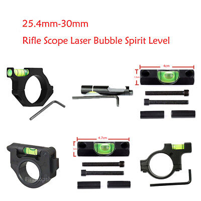 Alloy Scope Laser Bubble Spirit/Bracket Level For 25.4mm/30mm Ring Mount Airsoft