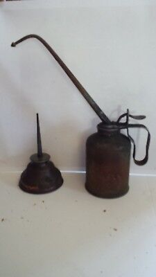Lot of 2 Thumb Oiler Vintage Eagle Plews oil can