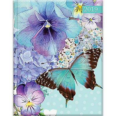 Polka Dot Viola - 2019 Diary Planner A5 Padded Cover by The Gifted Stationery