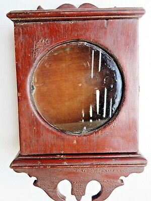 Antique Wood Cabinet Glass Door Showcase Used Original Table Watch Holder Case