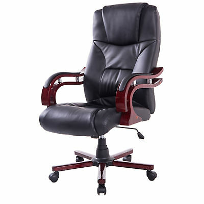 Swivel Office Chair  Executive Computer PU Seat Back Desk Chair Adjustable New